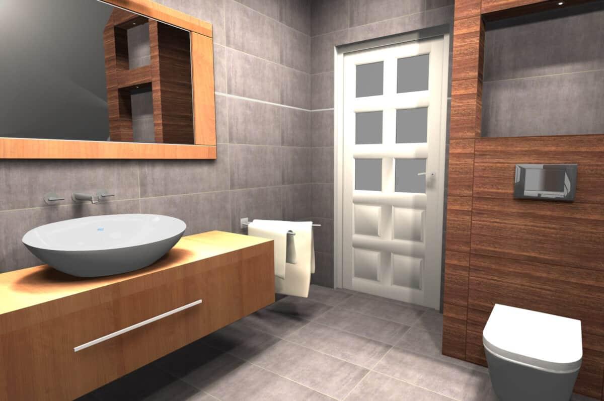 Realizacja łazienka Z Wanną I Kabiną Salon łazienek Murlowscy